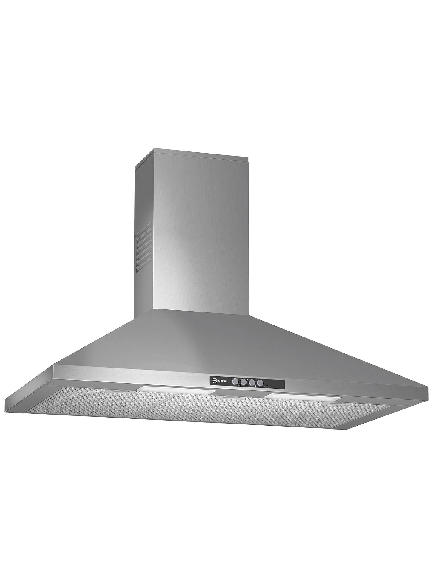 BuyNeff D69B21N0GB Chimney Cooker Hood, Silver Online at johnlewis.com