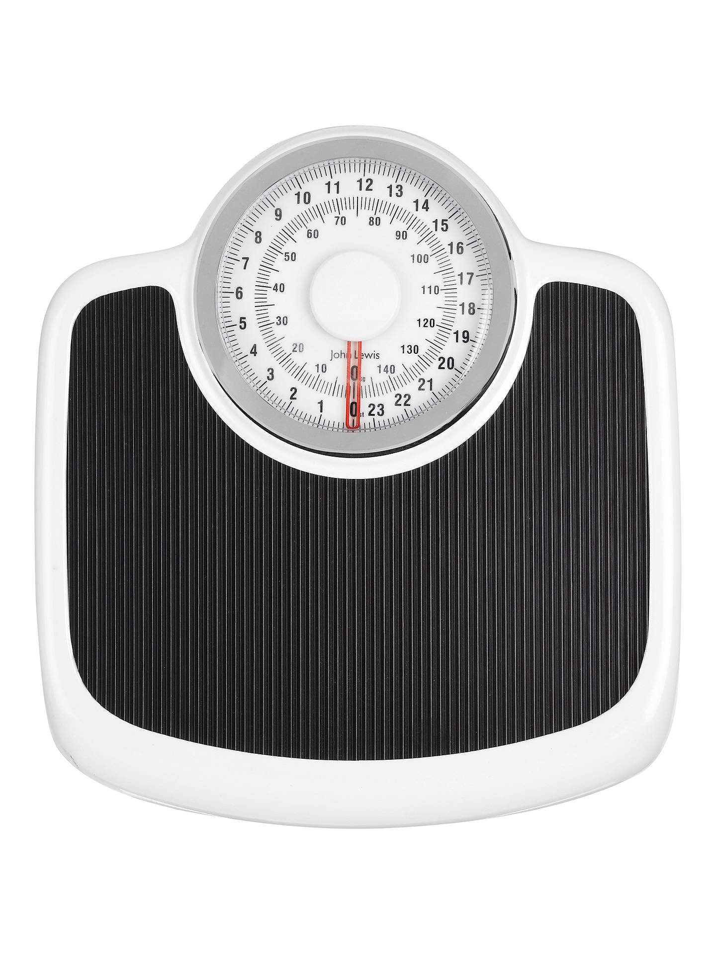 BuyJohn Lewis Traditional Mechanical Bathroom Scale, Black / White Online at johnlewis.com ...