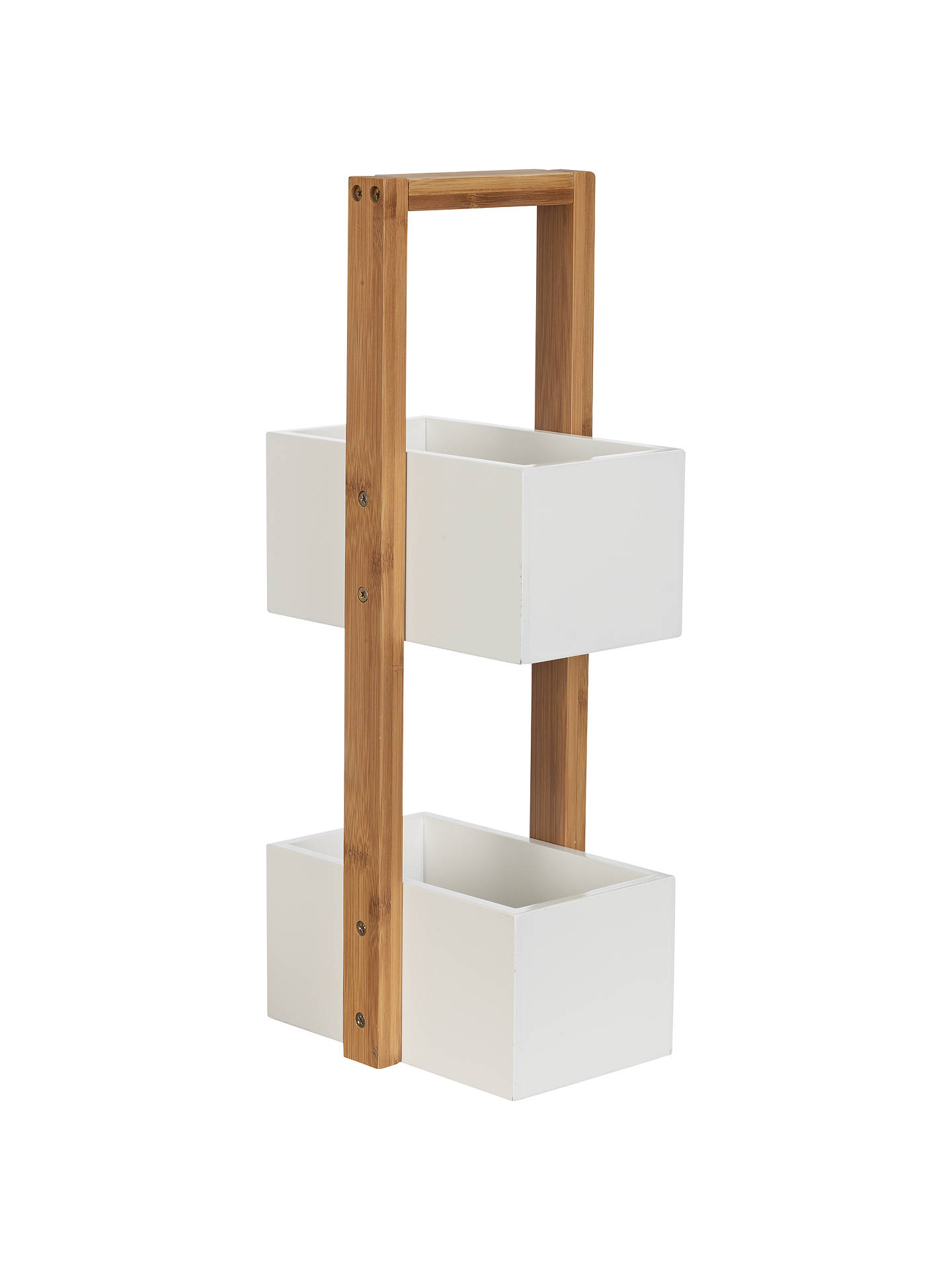 John Lewis Rubberised Bamboo 2 Tier