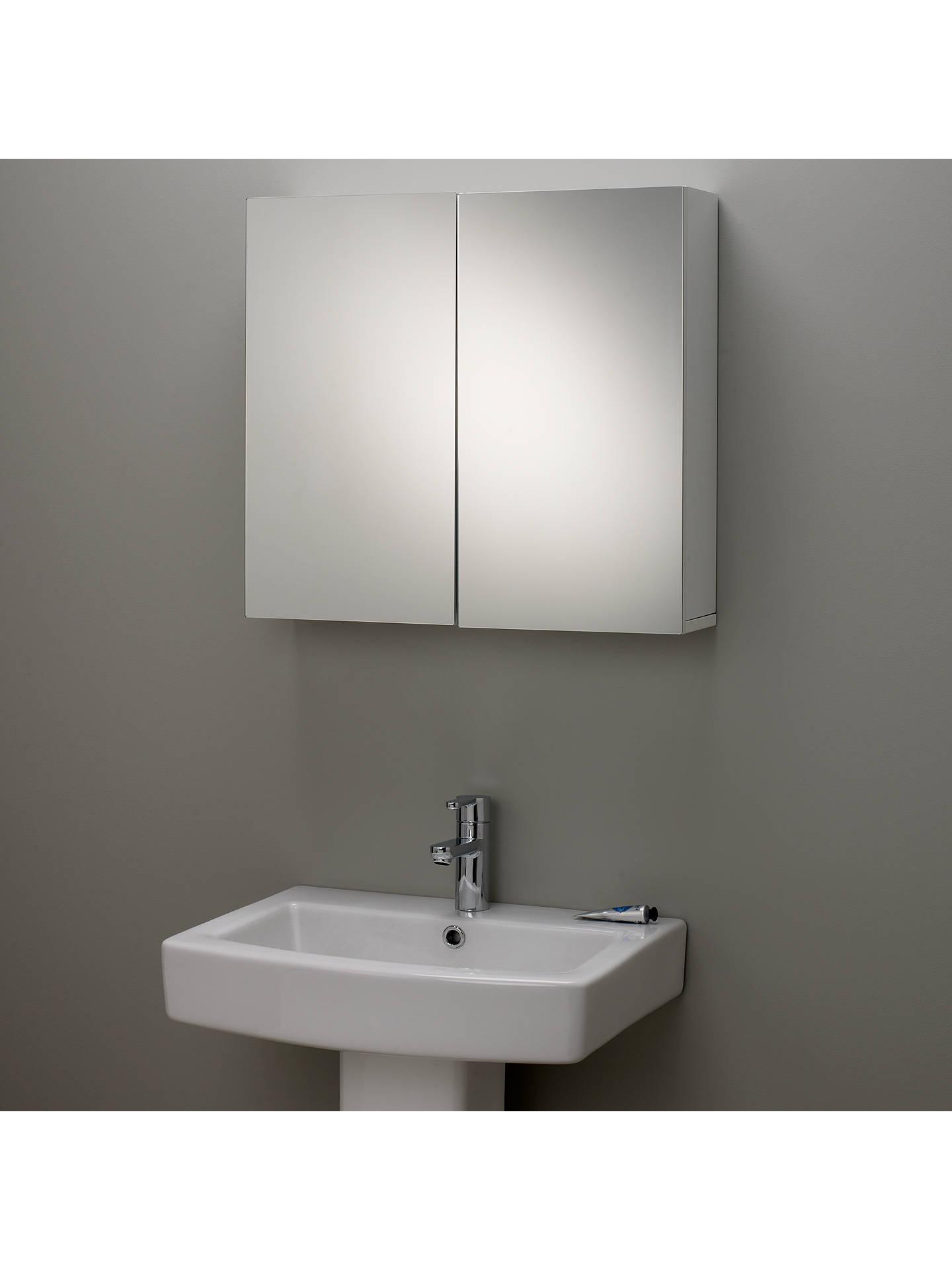 John Lewis Partners Gloss Double Mirrored Bathroom Cabinet At John