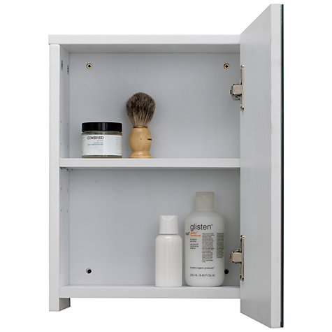 buy john lewis gloss single mirrored bathroom cabinet small online at johnlewiscom - Bathroom Cabinets John Lewis