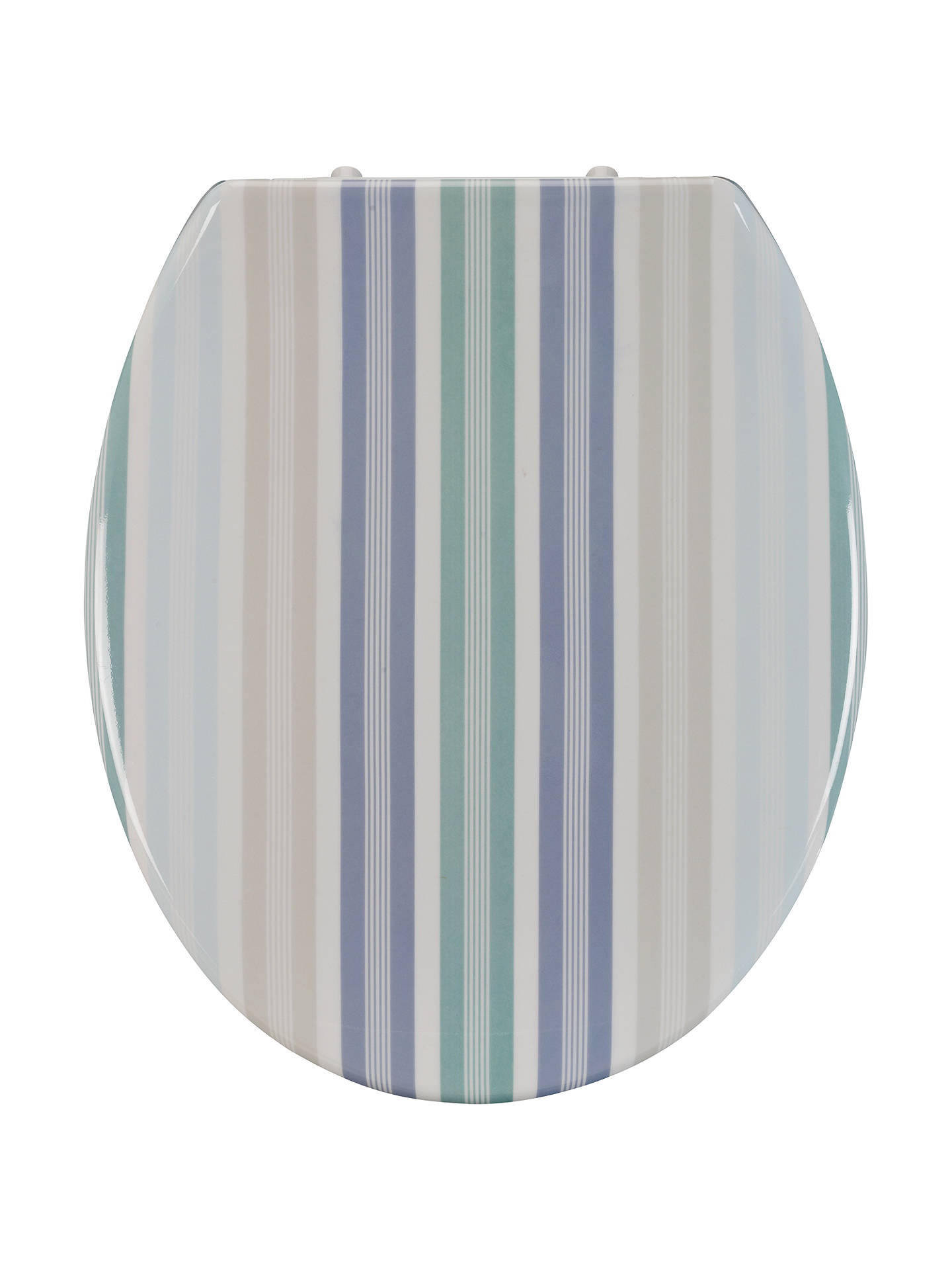 Groovy John Lewis Bathroom Pier Stripe Toilet Seat Blue Multi At Gamerscity Chair Design For Home Gamerscityorg