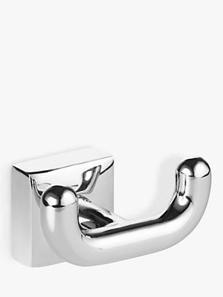 John Lewis & Partners Pure Double Robe Hook, Chrome