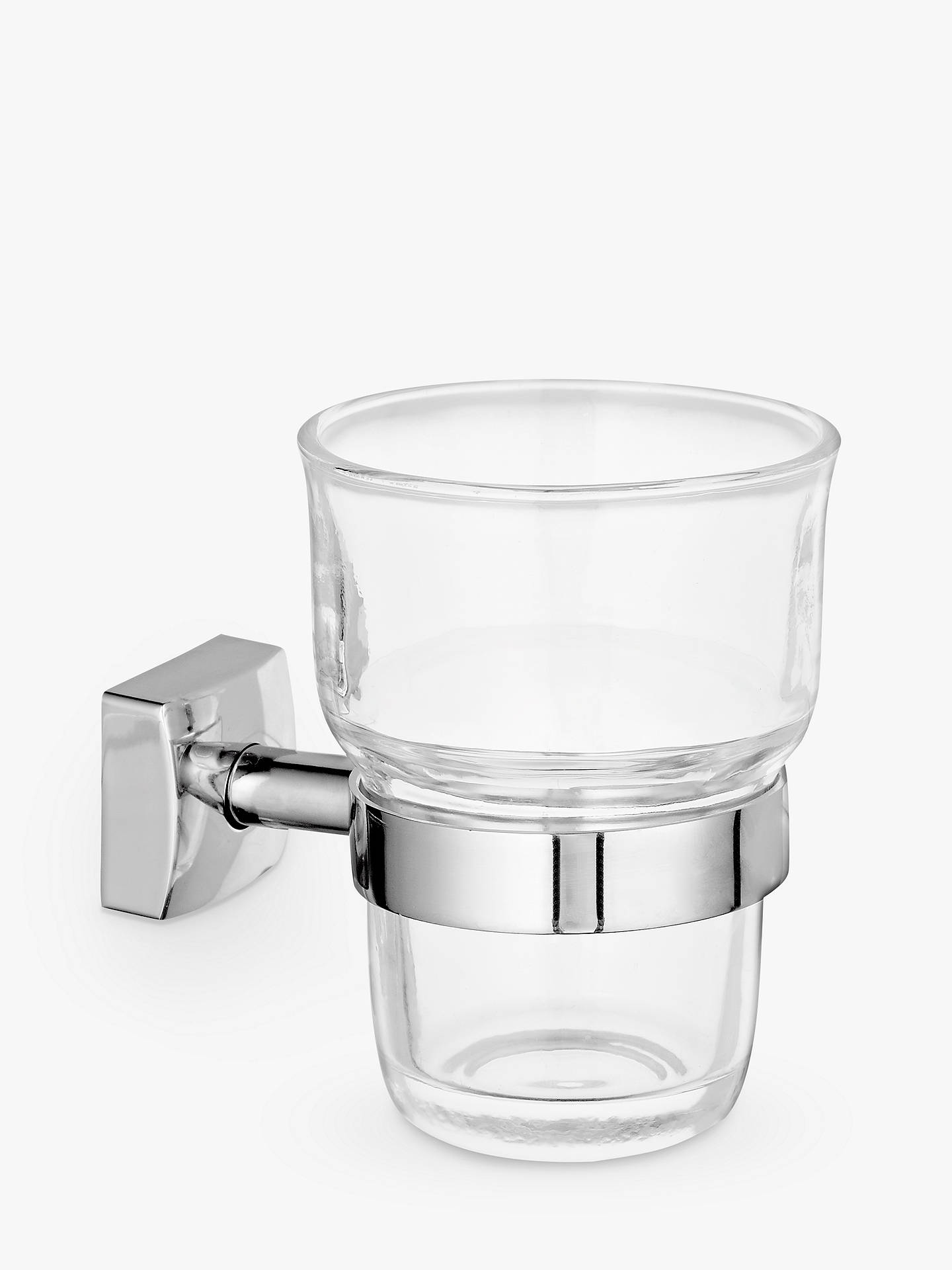 Buy John Lewis & Partners Pure Bathroom Tumbler and Holder, Silver Online at johnlewis.com
