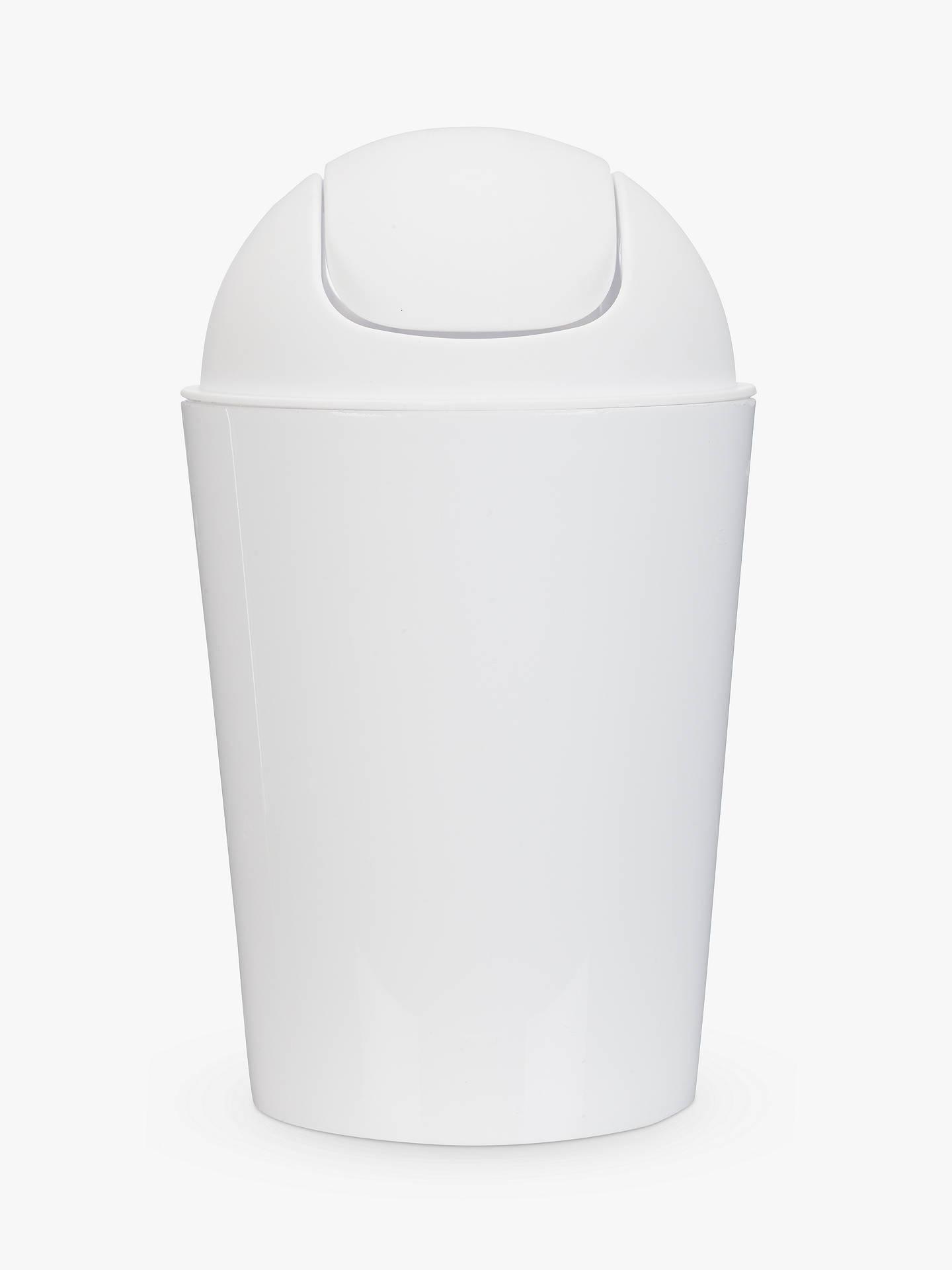 House By John Lewis Bathroom Flip Top Bin White Online At Johnlewis