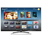 "Philips 42PFL6907T/12 LED HD 1080p 3D Smart TV, 42"" with Freeview HD & 4x 3D Glasses"