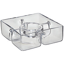 Buy LSA International Serve Square Chip and Dip Dish Online at johnlewis.com