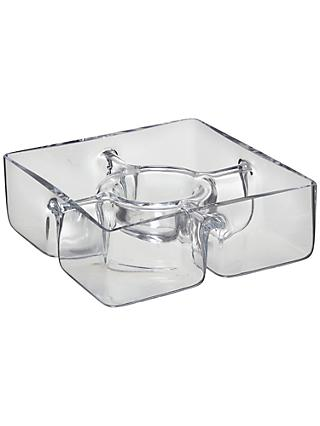 LSA International Serve Square Chip and Dip Dish