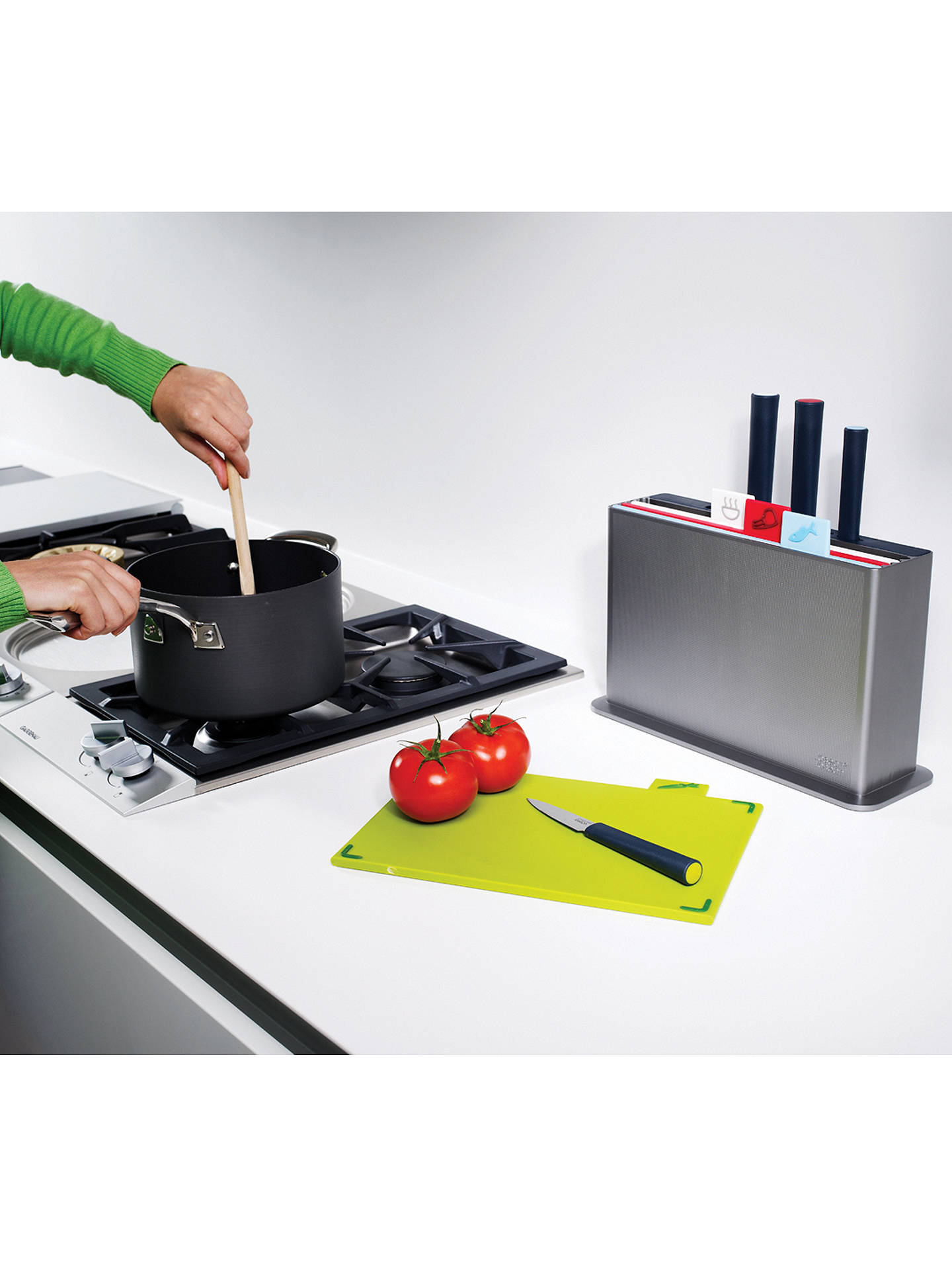 BuyJoseph Joseph Index Advance Chopping Board and Knives Set Online at johnlewis.com