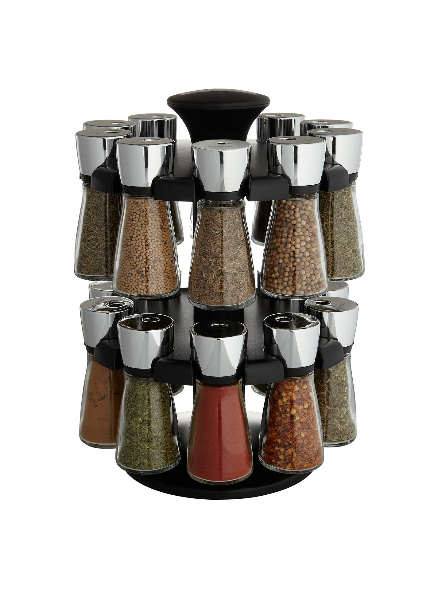 BuyCole & Mason Hudson 20 Jar Filled Spice Carousel Online at johnlewis.com