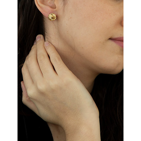 Buy IBB 9ct Gold Knot Earrings, Gold Online at johnlewis.com
