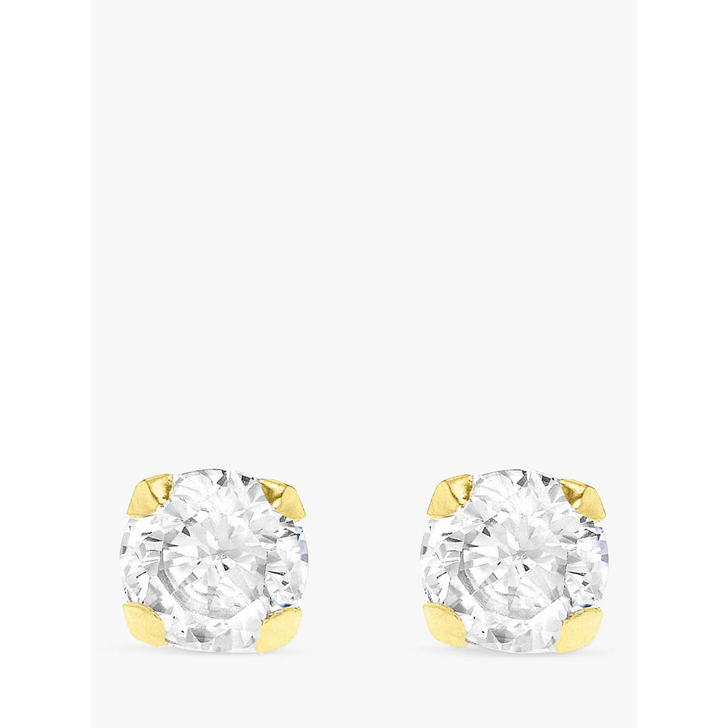 cubic products zirconia yellow lavender gold earrings stud round cz birthstone