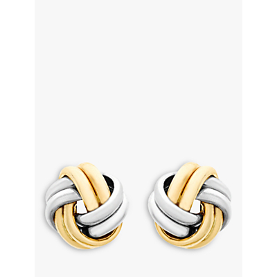 IBB 9ct Gold Small Knot Stud Earrings, Gold