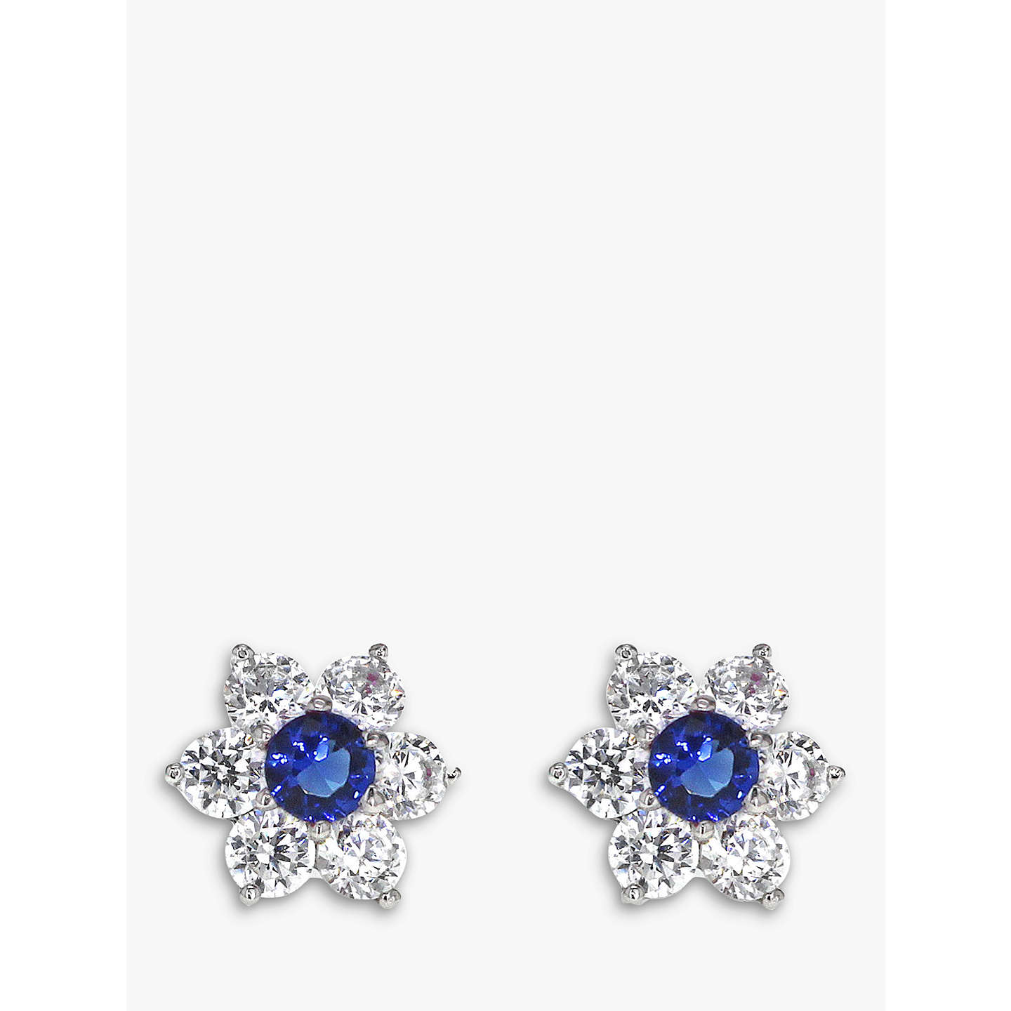 img jewellery big adamar flower scattered stud three diamonds earring diamond floral stone studs
