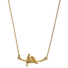 Buy Alex Monroe 22ct Gold Vermeil Lovebirds Branch Pendant Necklace, Gold Online at johnlewis.com