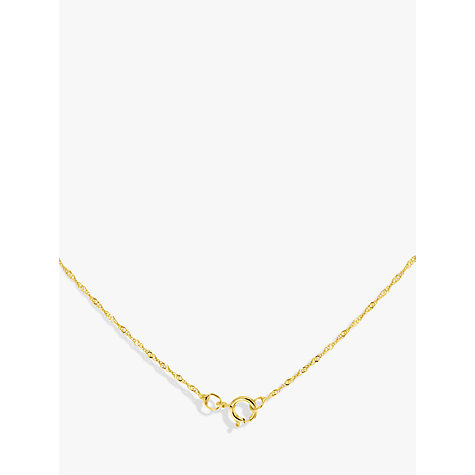 Buy IBB 9ct Yellow Gold Twist Curb Chain Heart Pendant Necklace, Gold Online at johnlewis.com