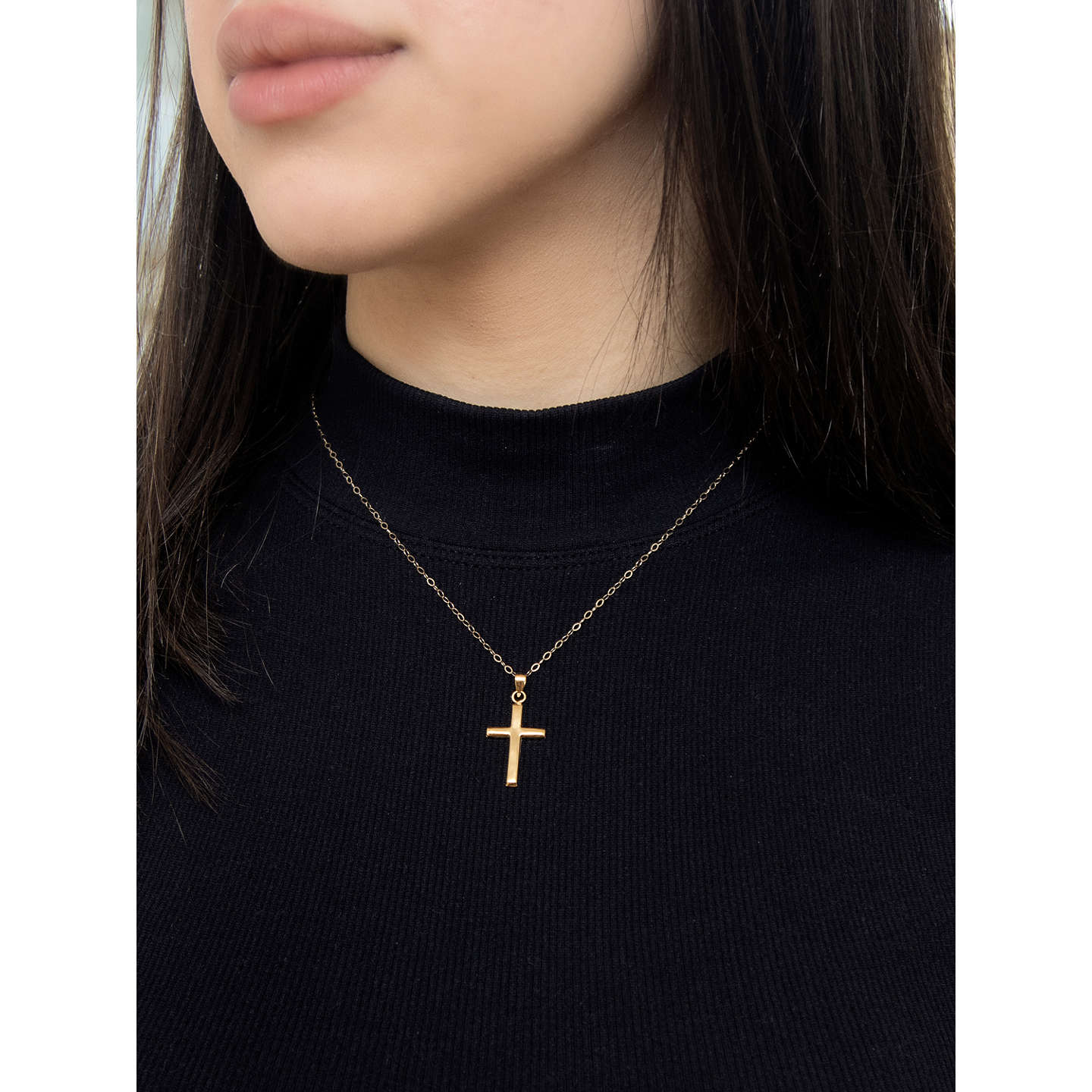 Ibb 9ct yellow gold cross pendant necklace gold at john lewis buyibb 9ct yellow gold cross pendant necklace gold online at johnlewis aloadofball Gallery