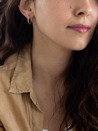 IBB 9ct Gold Plain Hoop Earrings