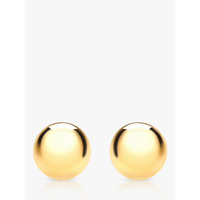 Image of IBB 9ct Yellow Gold Ball Stud Earrings, 3mm, Yellow Gold