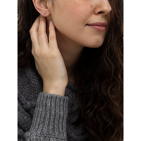 Buy IBB 9ct Yellow Gold Ball Stud Earrings, 3mm, Yellow Gold Online at johnlewis.com
