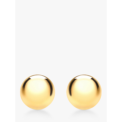 Image of IBB 9ct Yellow Gold 6mm Ball Stud Earrings, Yellow Gold
