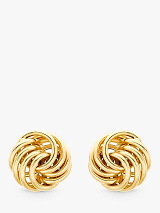 IBB 9ct Gold Mini Rose Stud Earrings, Gold