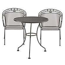 Buy John Lewis Henley by Kettler 2 Seater Round Outdoor Bistro Set, Grey Online at johnlewis.com