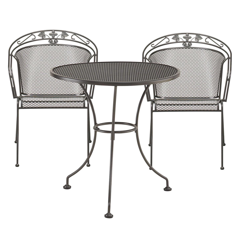 john lewis henley by kettler 2 seater round outdoor bistro set grey