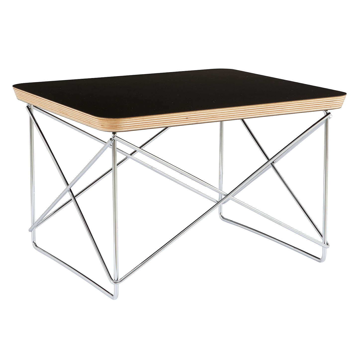 BuyVitra Eames LTR Occasional Side Table, Black Online At Johnlewis.com ...