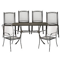 Buy John Lewis Henley by Kettler Rectangular 6 Seater Dining Set Online at johnlewis.com