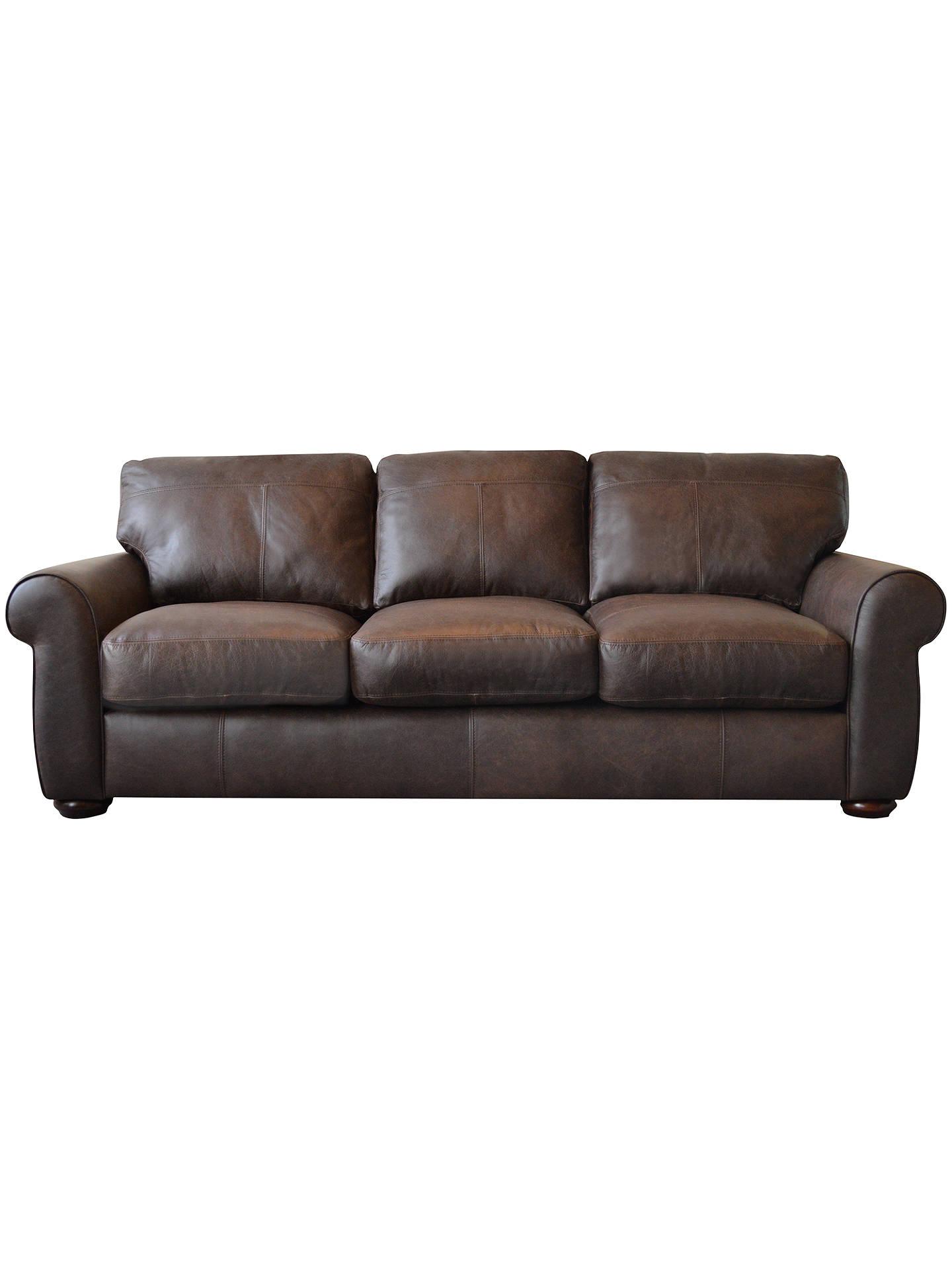 John Lewis Madison Semi Aniline Grand Leather Sofa Colorado Online At Johnlewis