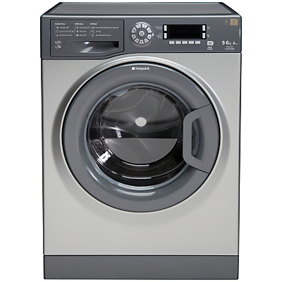 Hotpoint WDUD9640G Washer Dryer, 9kg Wash/6kg Dry Load, A Energy Rating, 1400rpm Spin, Graphite