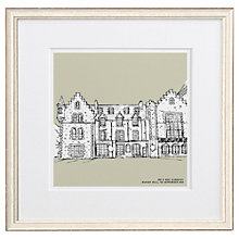 Buy Letterfest Personalised Wedding Illustration, Chalky White Frame, 44.8 x 44.8cm Online at johnlewis.com