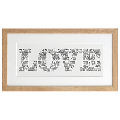 Letterfest Personalised Love Art Print, 24 x 45cm