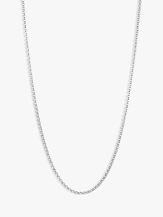 Links of London Sterling Silver Mini Belcher Chain Necklace, Silver
