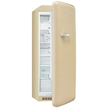 Buy Smeg FAB28QP1 Retro Fridge with Freezer Compartment, A++ Energy Rating, 60cm Wide, Cream Online at johnlewis.com