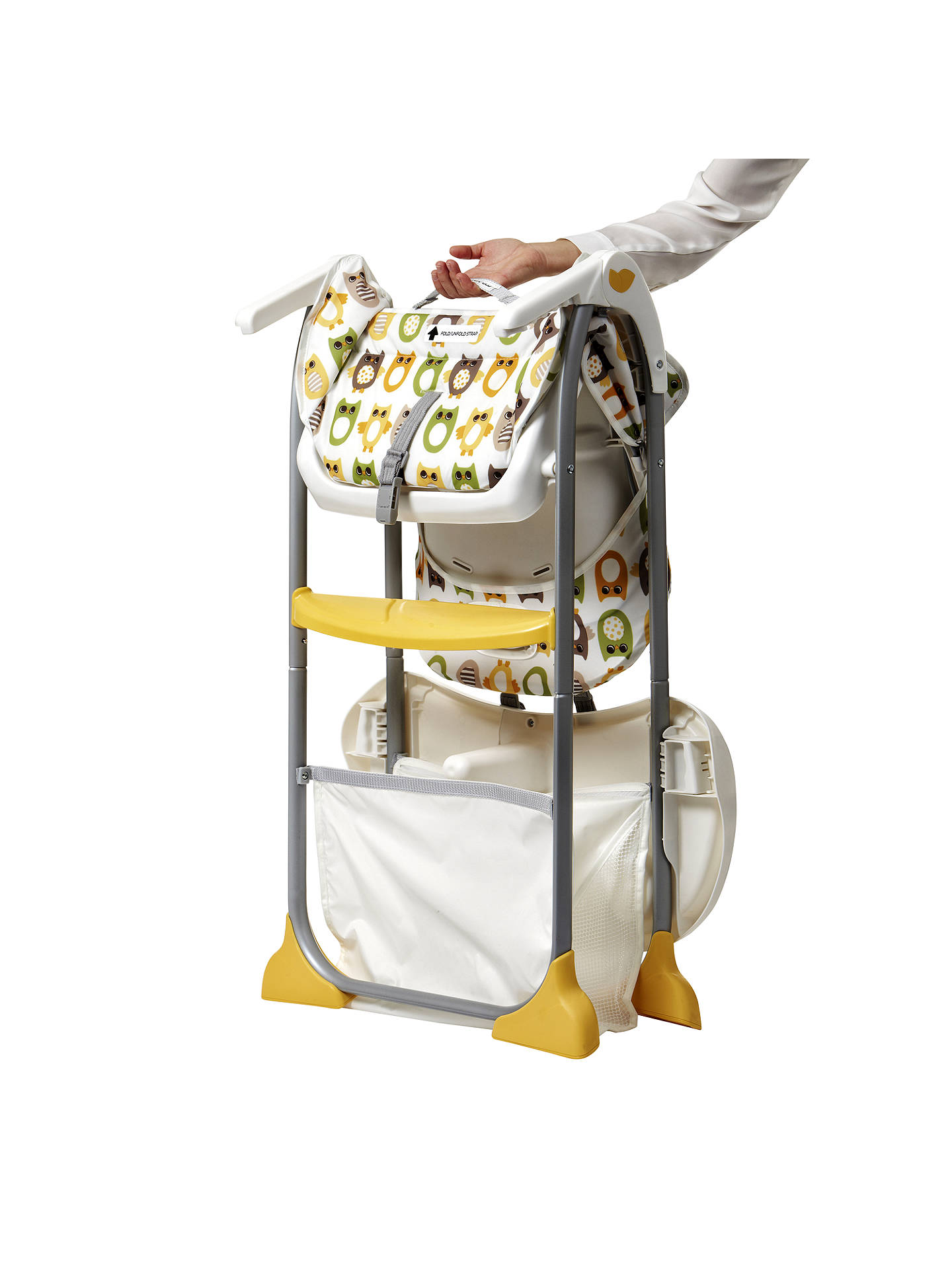 Joie Baby Mimzy Snacker Highchair, Owl at John Lewis ...