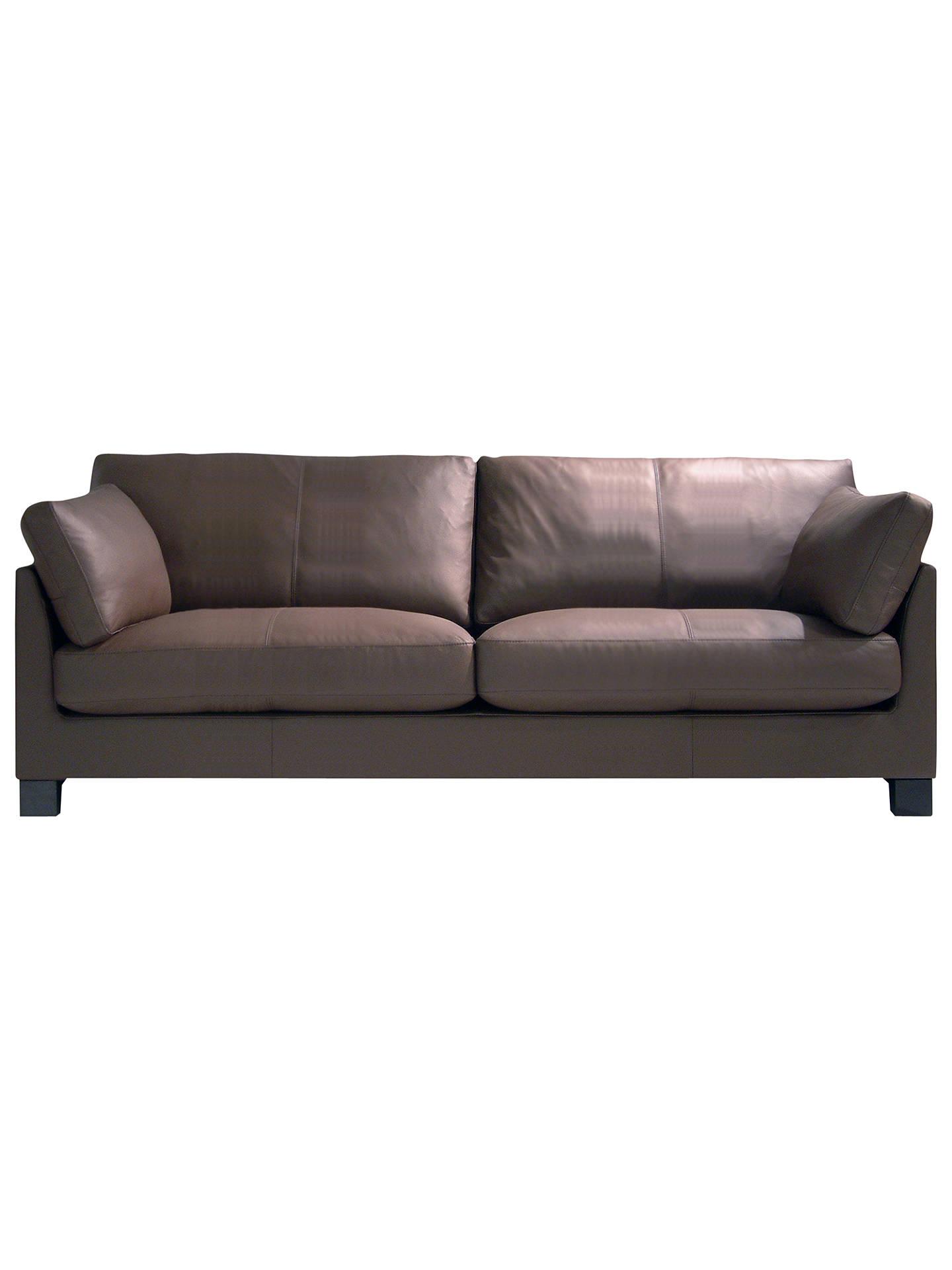 BuyJohn Lewis Ikon Leather Grand 4 Seater Sofa, Mocha Dakota Leather Online  At Johnlewis.
