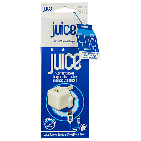 Buy Juice Blackberry Juice Home Charger for Micro USB Devices Online at johnlewis.com