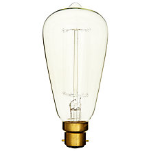 Buy Calex 40W BC Decorative Filament Rustic Bulb, Clear Online at johnlewis.com