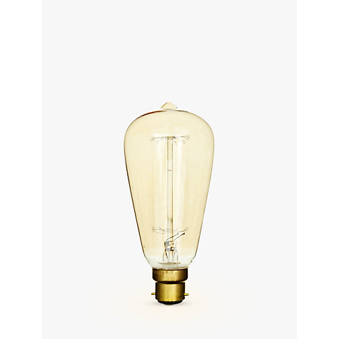 Buy Calex 40W BC Decorative Filament Rustic Bulb, Gold Online at johnlewis.com