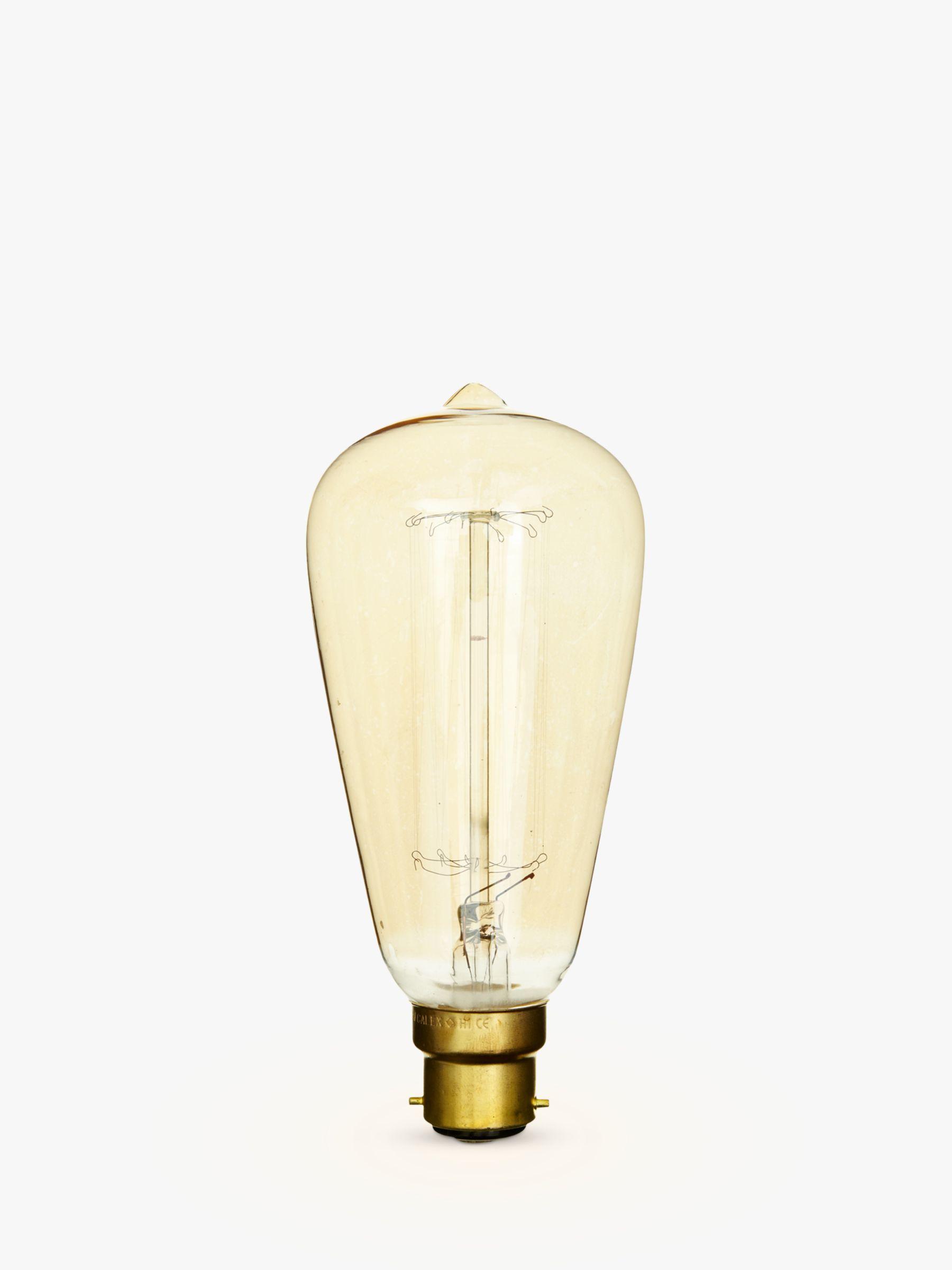 Calex Calex 40W BC Decorative Filament Rustic Bulb, Gold