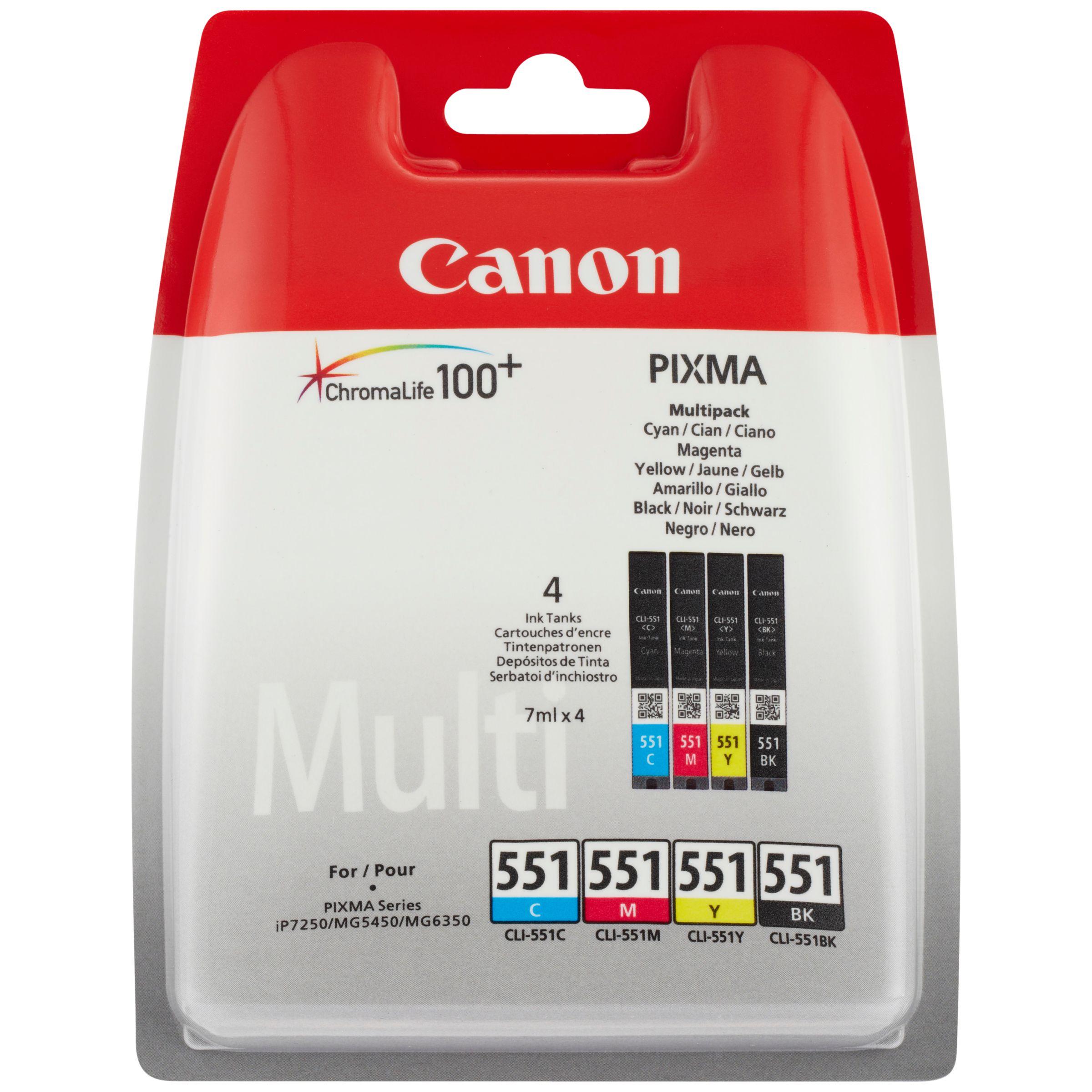 Canon Canon CLI-551 Inkjet Cartridge Multipack