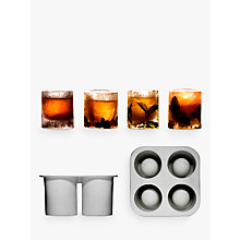 Buy Sagaform Ice Shot Glass Mould, Set of 4, Clear Online at johnlewis.com
