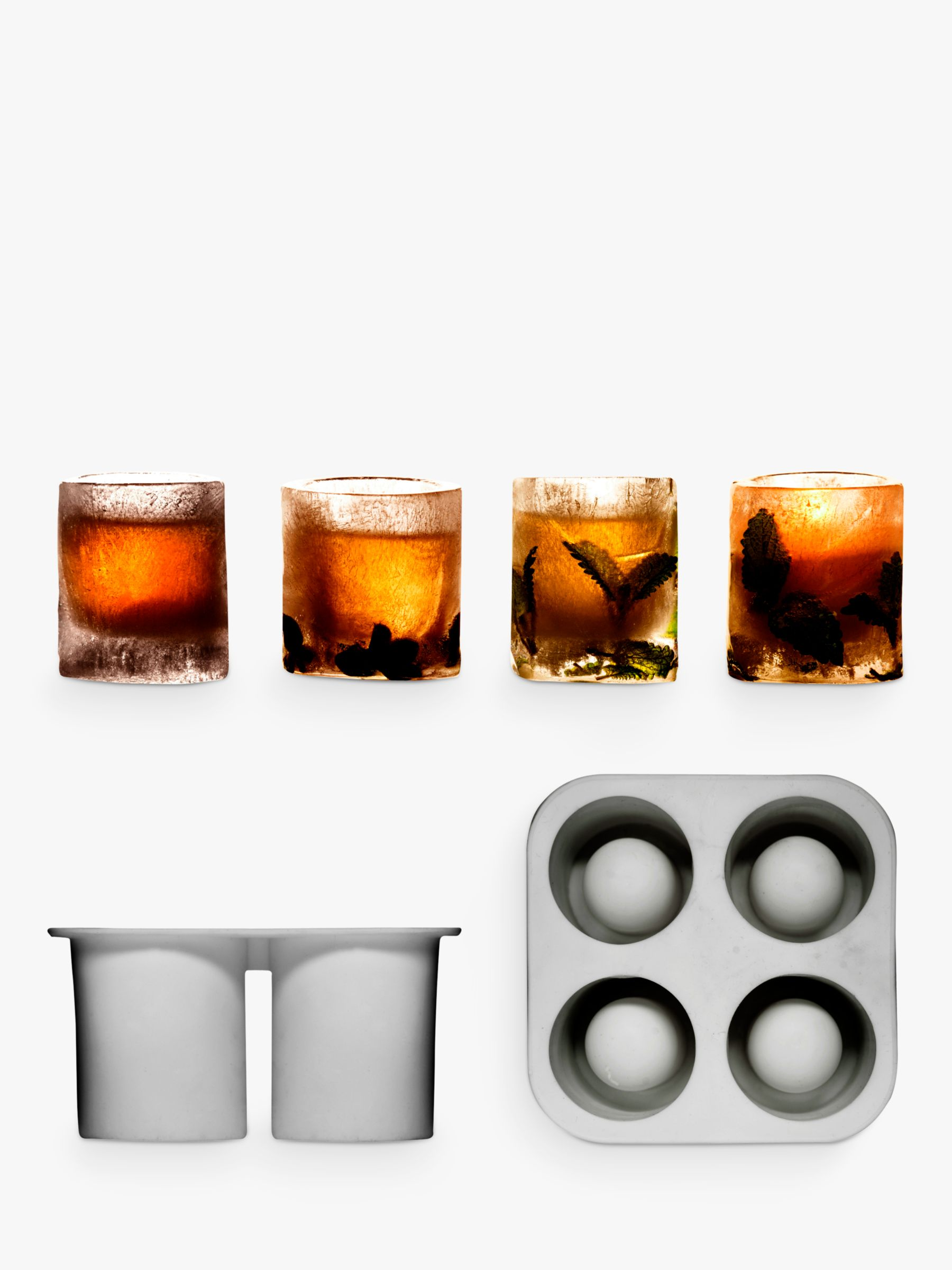 Sagaform Sagaform Ice Shot Glass Mould, Set of 4, Clear