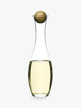 Sagaform White Wine Carafe with Oak Stopper