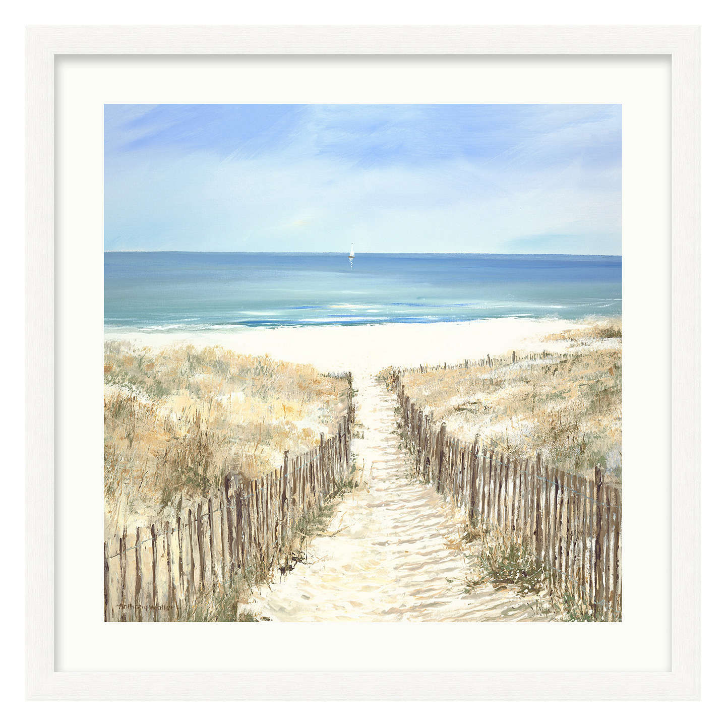 BuyAnthony Waller - Beach Path Framed Print, 68 x 68cm Online at johnlewis.com