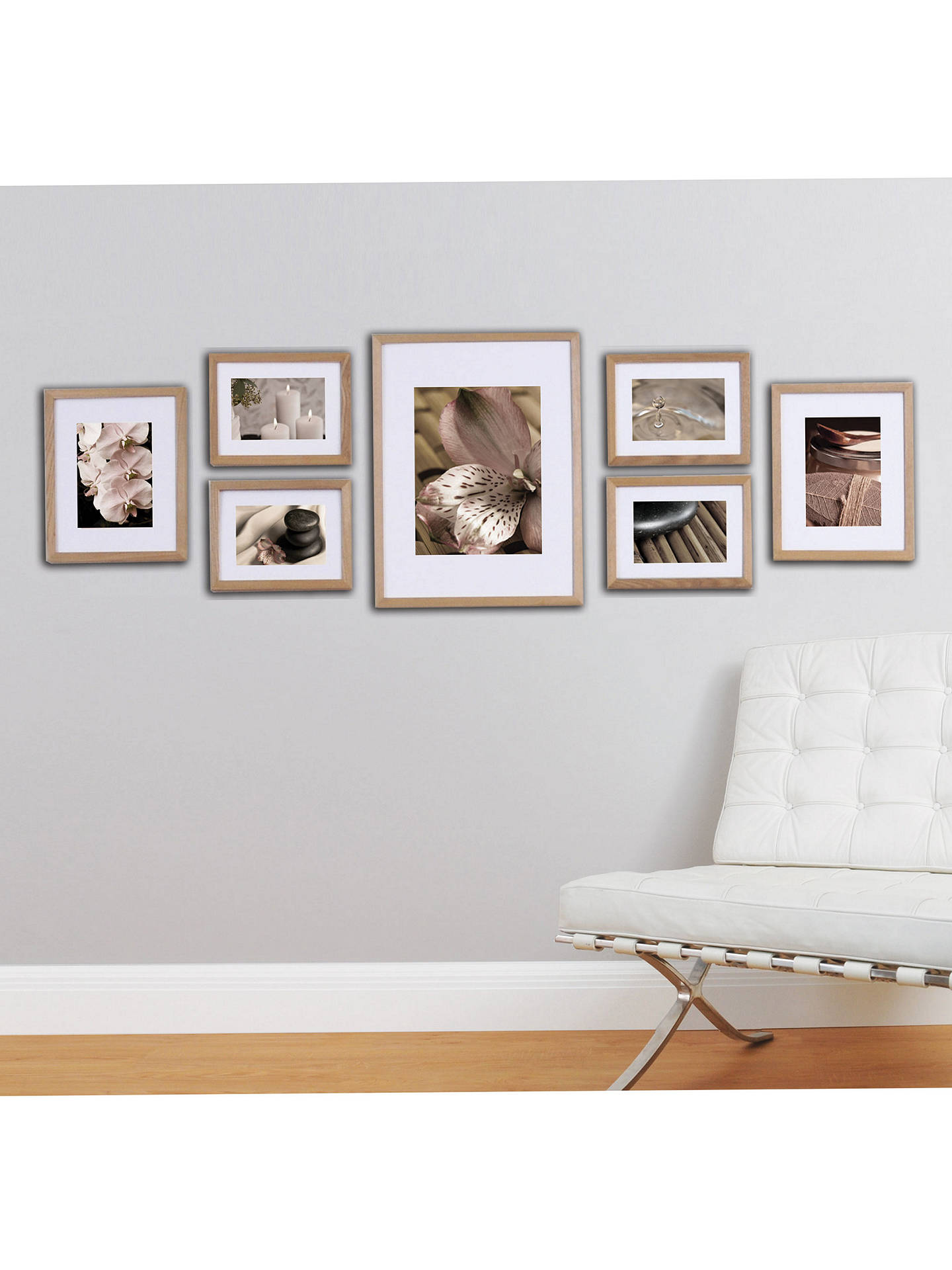 Buy gallery perfect photo frames set of 7 natural online at johnlewis com