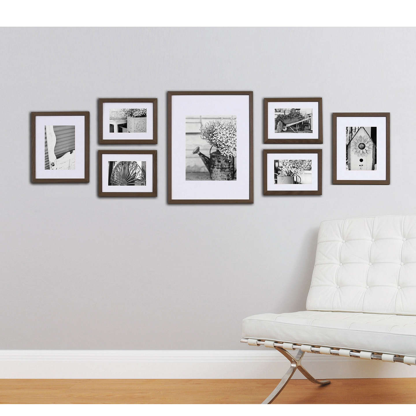 BuyGallery Perfect Frame Set, Walnut Online at johnlewis.com