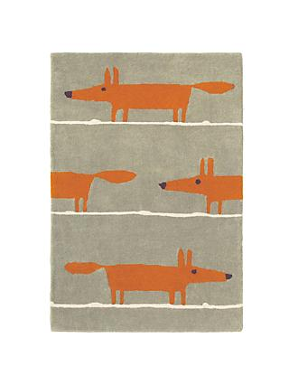 Scion Mr Fox Rug Orange L150 X W90cm